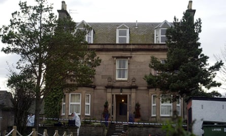The home of bank manager Alistair Wilson, in Nairn.