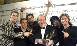 Pearlman (centre) with one of his lesser-known boybands, Natural, who found success in Germany and the Philippines.