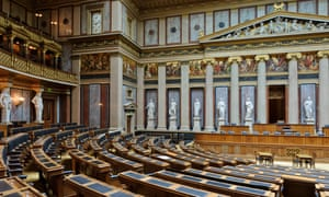 The Federal Assembly Chamber at the Austrian Parliament building, Vienna