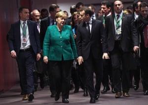 Brussels, Belgium German Chancellor Angela Merkel and France's President Emmanuel Macron