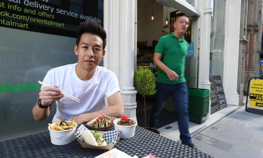 Yan Liu at the Oriental Mart in Hockley, Nottingham.