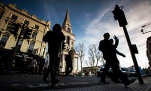 Commercial Street in Spitalfields, east London.