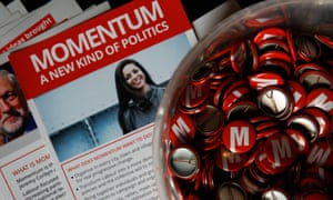 Badges and leaflets for Momentum.