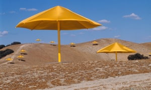 Christo and Jeanne-Claude's the Umbrellas.