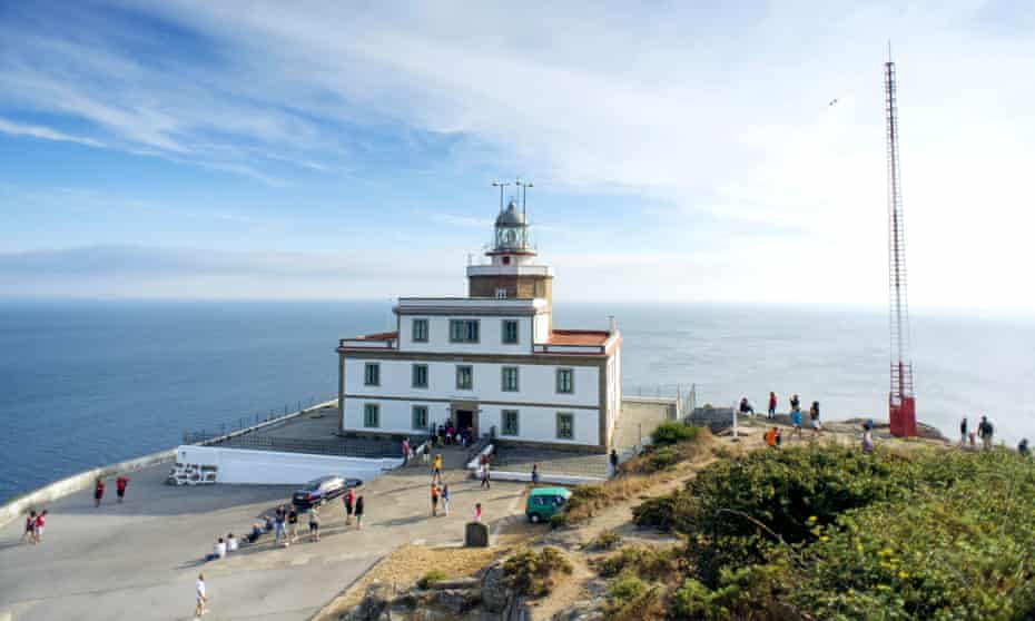 The lighthouse at Cape Finisterre.