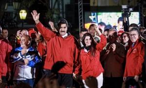 President Maduro and his wife, Cilia Flores  celebrate  'election' for his new constituent assembly.