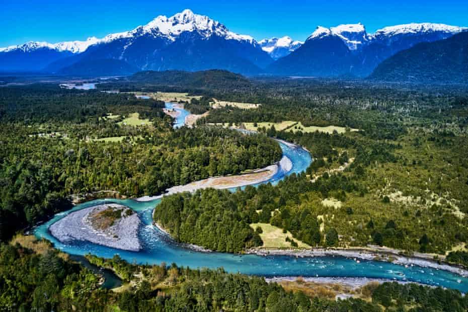 Yelcho River, Pumalín national park, Patagonia, Chile.