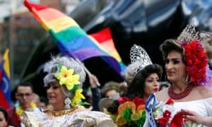 Celebrations at Bogota's Pride parade in July 2018.