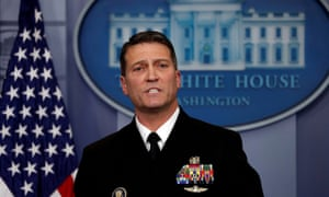 Ronny Jackson told the press in January of Trump's good health: 'It's just the way God made him.'