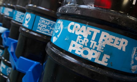 BrewDog kegs at its brewery in Aberdeenshire
