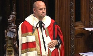 Jonathan Mendelsohn in his robes in the House of Lords.