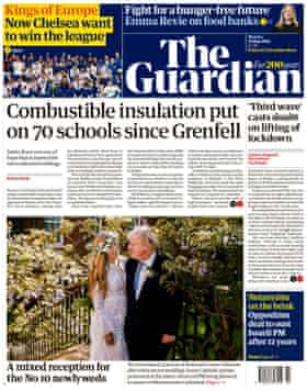 Front page of The Guardian, Monday May 31, 2021