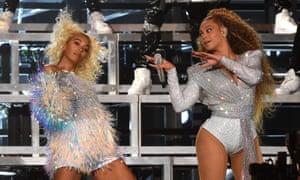 Solange and Beyoncé at Coachella 2018.