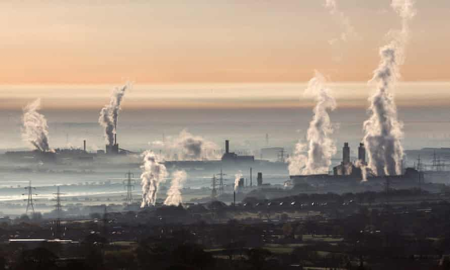 Heavy industry across Dee valley, including Shotton steelworks.