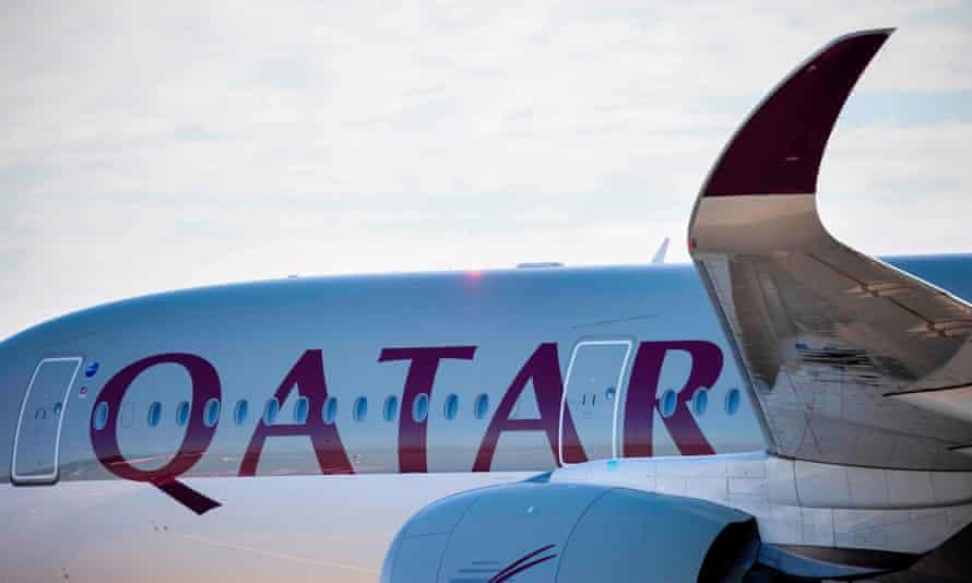 A plane of Qatar Airways