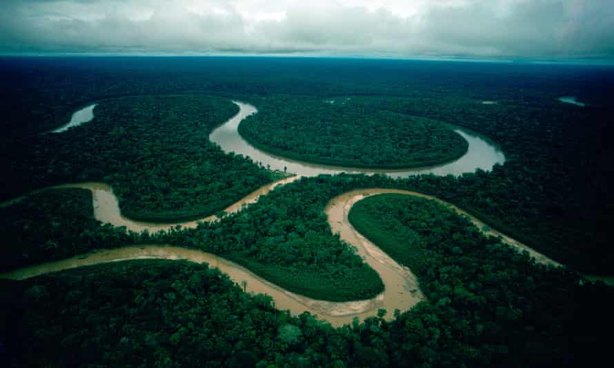 Rio Manu, home to arguably the highest concentration of biodiversity on Earth, in southeastern Peru.