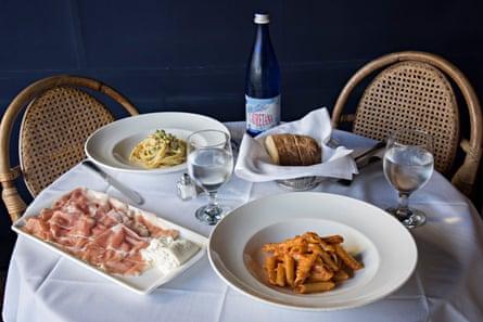 Food and drink at Locanda Portofino
