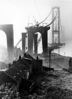 Forth Road Bridge under construction, 1962 In 1962, the striking modern architecture of the emerging Forth Road Bridge attracted his attention. He took numerous pictures of its construction and, being a keen climber, took it upon himself to ascend the catwalk one evening by moonlight