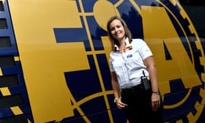 Silvia Bellot, who has stewarded in F1 since 2011, has turned her teenage hobby into a career.