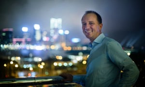 Karl Mayer, a German businessman, in front of Hong Kong's Victoria Harbour.