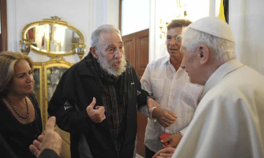 With Pope Benedict in Havana in 2012.