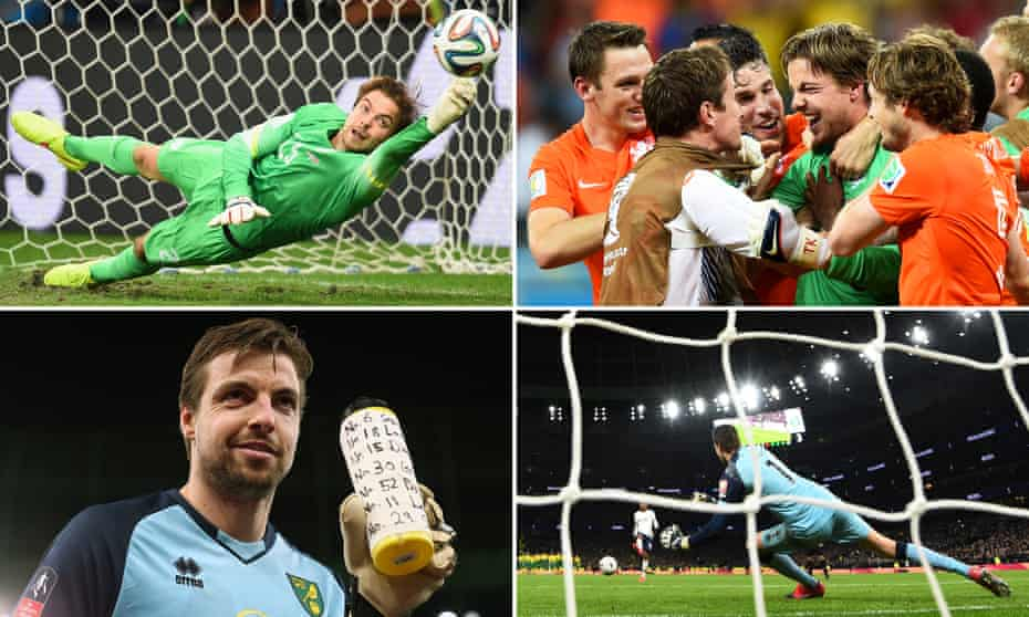 Tim Krul saving a penalty against Costa Rica, then celebrating the win; and with the bottle that helped him during a shootout at Tottenham.