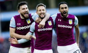 Aston Villa players with Unibet kit branding