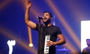 Hamed Sinno, the lead singer of Mashrou' Leila