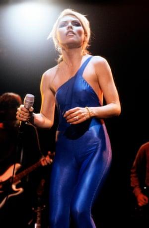 Metallic unitards: Debbie in 1981