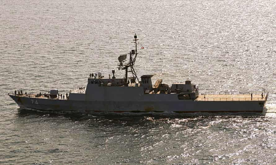 Iranian destroyer Sahand in the Baltic Sea off the Danish island of Bornholm
