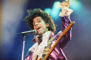Prince on stage in 1985.