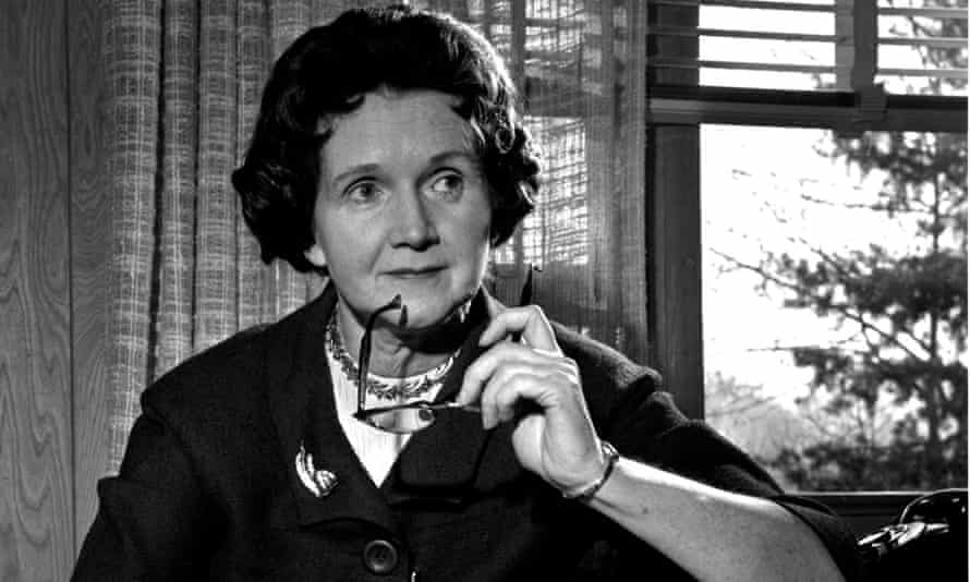 Climate change author: Rachel Carson, author of Silent Spring, at home in Washington DC in 1963.