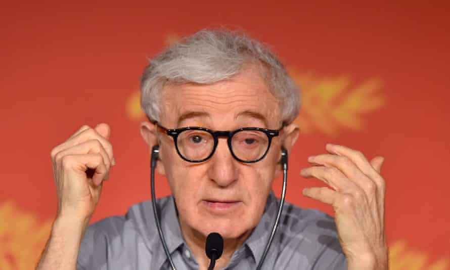 'Celebrities often kvetch about the lack of privacy and being bothered by paparazzi, but these are not life-threatening problems' … Woody Allen at the Cannes press conference for Café Society