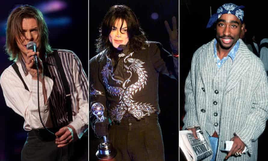 David Bowie, Michael Jackson and Tupac