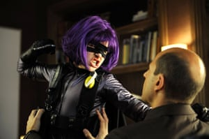 Chloë Grace Moretz opposite Mark Strong in Kick-Ass