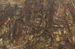 Shell Building Site, 1962, oil on board.