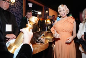 The Fosse/Verdon star Michelle Williams, who won a Golden Globe for best actress in a mini-series or motion picture for TV