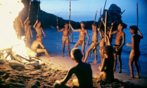 Warring tribes … the 1990 film adaptation of William Golding's Lord of the Flies.