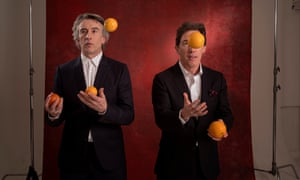 Rob Brydon and Steve Coogan were photographed for Observer Food Monthly in Spain, where they talked about the third season of Michael Winterbottom's The Trip.