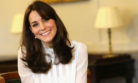 Duchess of Cambridge, wearing a Reiss shirt, guest edits the Huffington Post.