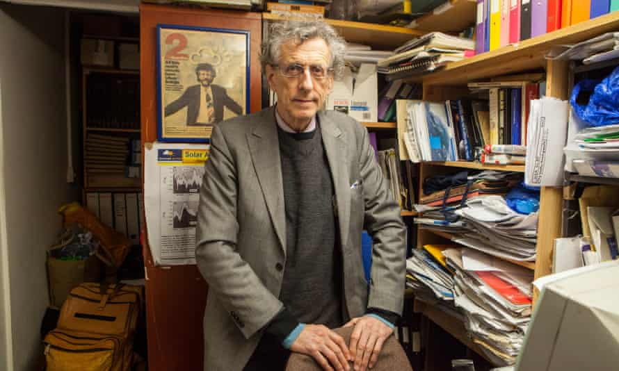 Piers Corbyn photographed at his office in south London