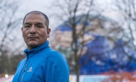 Saul Luciano Lliuya, a farmer from Peru, at the UN climate talks in Bonn earlier this month.