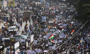 A protest against the Citizenship Amendment Act in Mumbai, India, on Wednesday.