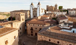 Rooftops of old town of Caceres, Caceres, Extremadura, Spain