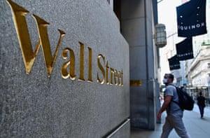 The New York Stock Exchange on Wall Street