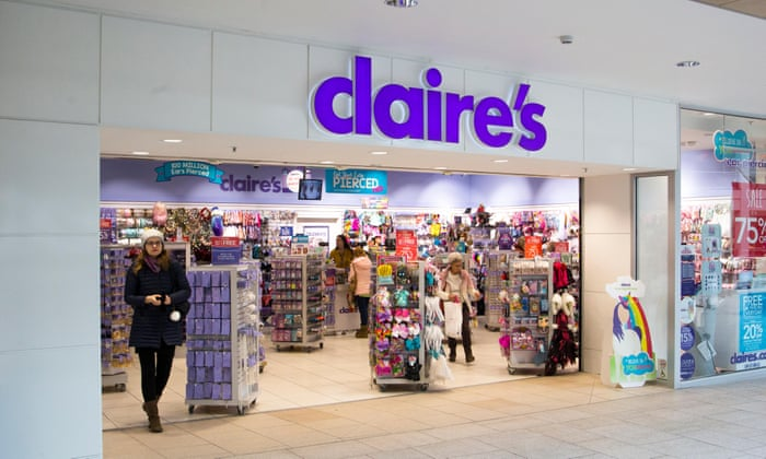 Claire's: tween jewelry and ear piercing retailer files for ...
