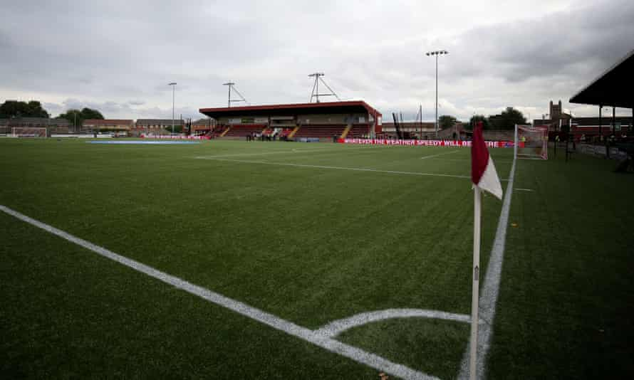 Stenhousemuir's Ochilview Park stadium, pictured in 2016, where the incident occurred on Thursday.