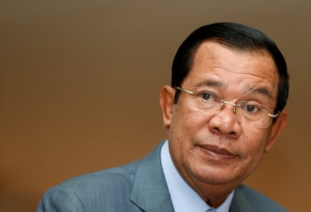 Cambodia's Prime Minister Hun Sen attends a plenary session at the National Assembly of Cambodia