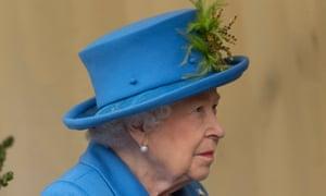 Queen Elizabeth II at the opening of a housing trust development in Morden, London, on 11 October 2019.