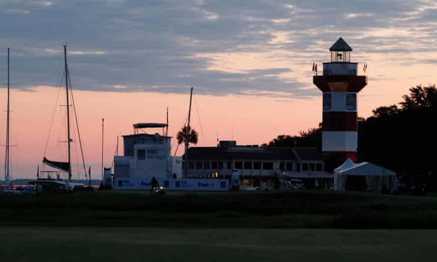 Hilton Head island's lighthouse at dawn.